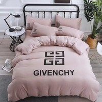 Fashion GIVENCHY Blanket Quilt coverlet Pillow shams 4 PC Bedding Set