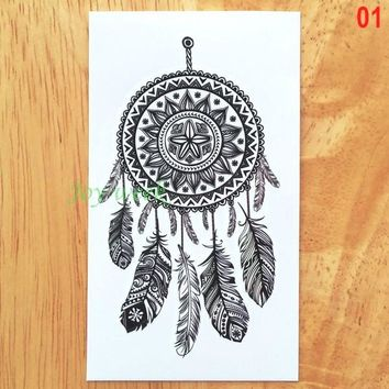 Waterproof Temporary Tattoo sticker lace mandala dreamcatcher dream catcher tatto stickers flash tatoo fake tattoos for women 4