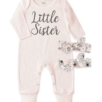 Tesa Babe Blush 'Little Sister' Playsuit Set - Infant