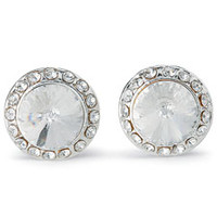 Rhinestone Button Post Dance Earrings; Balera