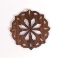 Wooden Ornaments - Snowflake Ornament - Wood Tree Decorations