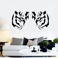 Wall Stickers Vinyl Decal Animal Tiger Raptor Tribal Eyes Wall Decor Mural Unique Gift (ig026)