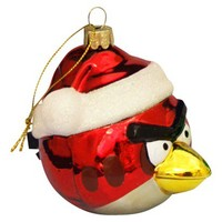 Angry Birds Glass Ornament - Red
