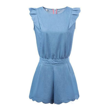 Summer Denim Rompers [7279003719]