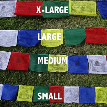 25 Tibetan Buddhist Prayer Flags Cotton SMALL