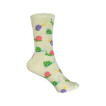 Snails Crew Socks in Beige