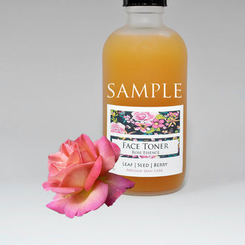 SAMPLE Exfoliating Rose Face Toner, Facial Toner, Exfoliator, Rose Water Toner, Willow Bark BHA Toner, Alcohol Free, Natural Skin Care