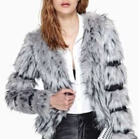 Foxy Faux Fur Coat