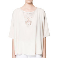 CAP SLEEVE BLOUSE - Tops - Woman | ZARA United States
