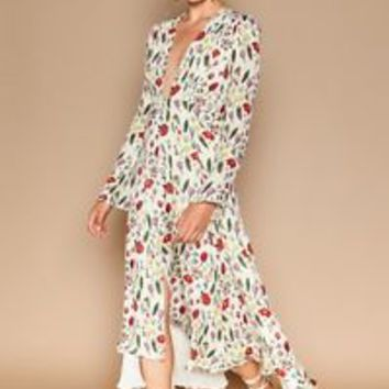 🆕 Stone Cold Fox NICO GOWN - FIORE Floral Dress Sz 1 Small SOLD OUT IN STORES