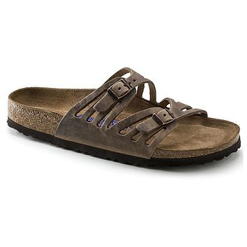 Granada Sandal in Tobacco Brown Oiled Leather with Soft Footbed by Birkenstock