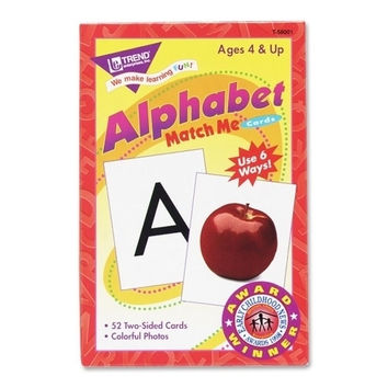 "Trend Enterprises Alphabet Match Me Flash Cards, 3""x3-7/8"", 6 And Up"