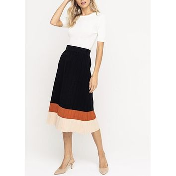 ERIN COLORBLOCK PLEATED SKIRT