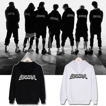 ALIPOP KPOP Korean Fashion IKON NEW KIDS BEGIN Album Concert Cotton Hoodies Hat Clothes K-POP Pullovers Sweatshirts PT492