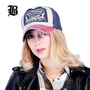Motor Racing Team Cotton Baseball Cap | Fitted | Men or Women