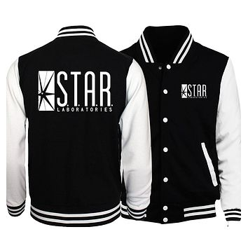 The Flasher Star S.T.A.R. Labs/Teen Wolf Stilinski 24 Jacket Men 2018 Spring Baseball Jackes Slim Fit Coat Homme Plus Size 5XL