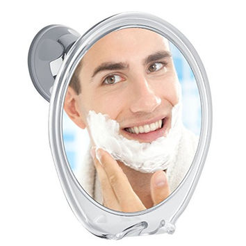 Fogless Shower Mirror with Razor Hook for A Perfect No Fog Shaving, 360 Degree Rotating for Easy Mirrors Viewing, Strong Power Lock Suction Cup Will Not Fall, Ideal for Home and Traveling!