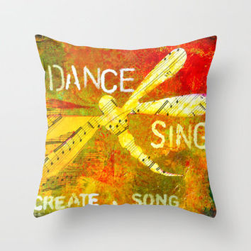 Create A Song Throw Pillow by kathleentennant | Society6