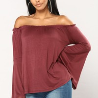 Lilia Off The Shoulder Top - Marsala