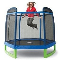 My First Indoor/Outdoor Trampoline Combo with Enclosure - 84""
