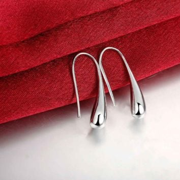 Silver Color Waterdrop/Raindrop Drop Earrings for Women