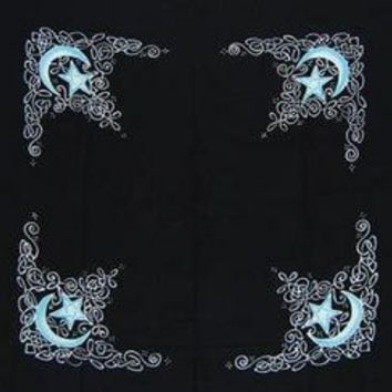 "Celtic Moon altar cloth or scarve 36"" x 36"""