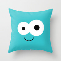 Blue Monster  - Throw Pillow Cover Includes Pillow Insert