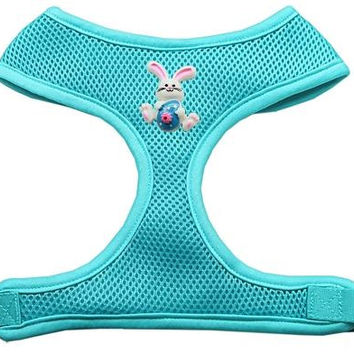 Easter Bunny Chipper Aqua Harness Large