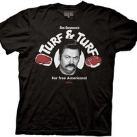 Parks & Recreation Turf & Turf Adult Black T-shirt