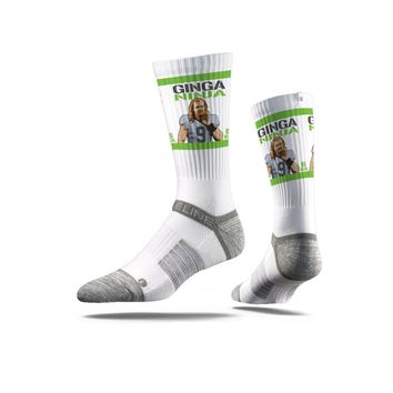 NFLPA - Jon Ryan, White - Strideline Crew Socks