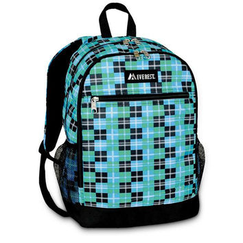 Casual Backpack With Mesh Pockets