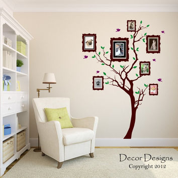 Wall decal, Family Tree Wall Decal - by Decor Designs Decals, Photo frame tree Decal - Family Tree Wall Sticker - Living Room Wall Decals - wall graphic - Frame Tree