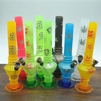 frozen printing acrylic water smoking pipe shisha grinderrolling machine paper glass