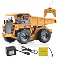 HuiNa Toys 1540 Six Channel 6CH 1 12 40HMZ RC Metal Dump Truck Remote Control Toys RTR With Charging Battery