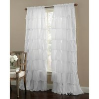 Gypsy Rod Pocket Window Curtain Panels in White