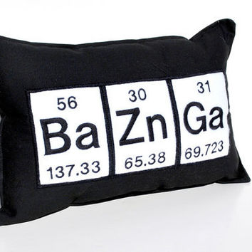 Bazinga Periodic Table Geeky Pillow
