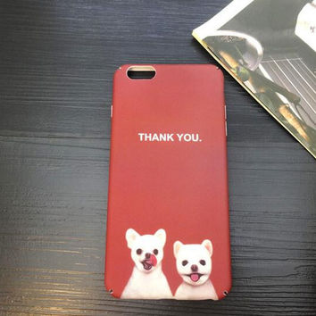 Cute two dogs say thank you iPhone 6 6s 6 Plus 6s Plus Case + Nice gift box 71501