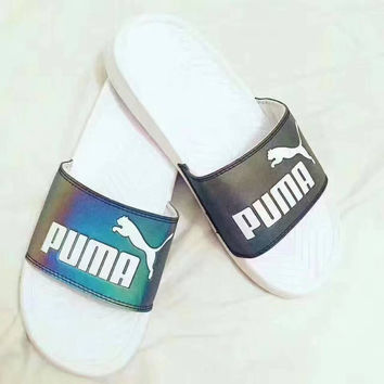 PUMA  Popcat Slide 3M Reflective laser slippers Sandal Slipper Shoes pink