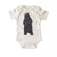 Be The Bear Organic Cotton Unisex Baby Bodysuit in Natural