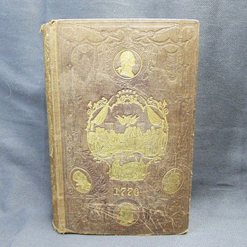 1776 The War of Independence Benson J. Lossing | Antique 1850 History of Anglo Americans Hardcover Book