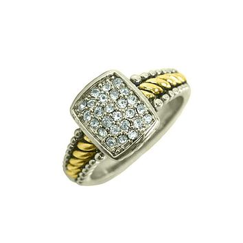 Sterling 14k Yellow Gold 1.87TCW Russian Lab Diamond Engagement Ring