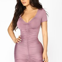 Lhasa Ruched Dress - Lavender