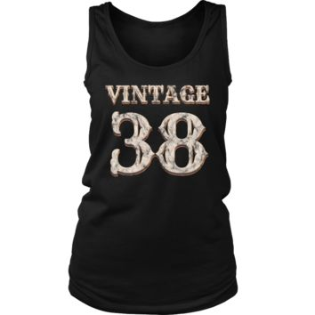 Women's Vintage 38 Tank Top 80th Birthday Gift for 80 Year Old