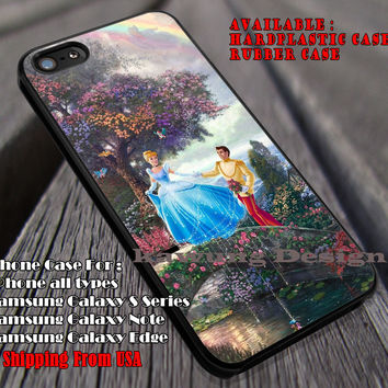 Fall In Love, Cinderella, Prince Charming, Castle, Sparkling Rainbow, Disney Princess, case/cover for iPhone 4/4s/5/5c/6/6+/6s/6s+ Samsung Galaxy S4/S5/S6/Edge/Edge+ NOTE 3/4/5 #cartoon #animated #disney #cinderella ii