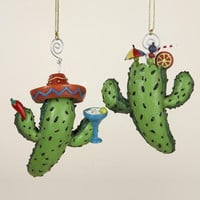 12 Christmas Ornaments - Cactus