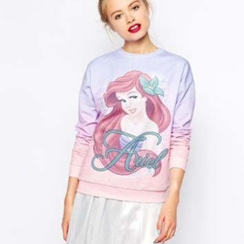 ASOS Sweatshirt with Disney Little Mermaid Ariel Print