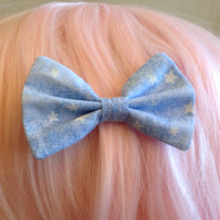 Kawaii Harajuku Fairy Kei Hime Gyaru Japanese Fashion Pastel Goth Soft Grunge Pop Kei Dolly Lolita Starry Hair Bow Tie