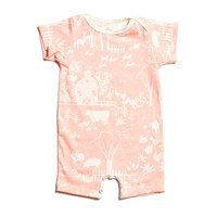 "Pink ""Farm Next Door"" Organic Romper by Winter Water Factory"