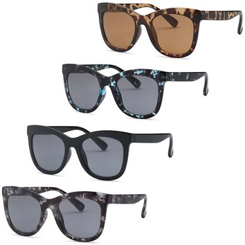 AFONiE Original Thick Wayfarer Sunglasses for women - 4Pack