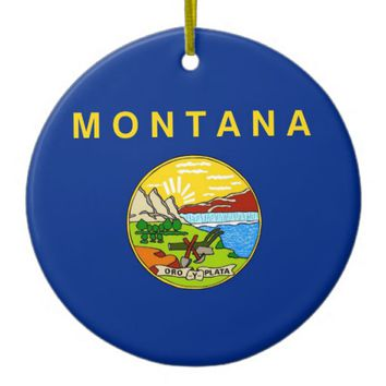 Ornament with flag of Montana